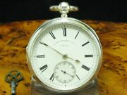 Alfred Russel And Co.925 Silver Open Face Pocket Watch Key Lift