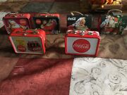 Coca-cola Collectible Vintage Tin Lunch Boxes Pre-owened From 1990andrsquos