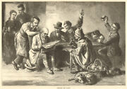 Discussing The Budget. Finance. Society 1872 Antique Iln Full Page Print