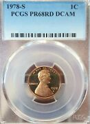 1978-s Usa Lincoln Penny Pcgs Pr68rd Dcam Buy Now A++