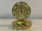 Vintage French Speed Gauge Form Thermometer Advertising Paperweight W Road Signs