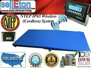 Ntep Wireless Cordless 48 X 96 4and039 X 8and039 Floor Scale 1 Ramp 2000 Lbs X .5 Lb