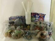 Star Wars Episode 1 - 11 Plastic Cup 10 Straws And Toppers Pizza Hut Taco Bell Kfc