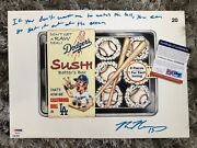 Max Muncy Get It Out Of The Ocean Topps Dodgers Wacky Packs Signed Psa/dna Coa