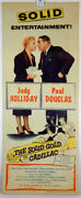 The Solid Gold Cadillac 1956 Insert Movie Poster - Judy Holliday - Paul Douglas
