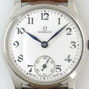 Omega Small Second White Dial Manual Winding Vintage Watch 1929and039s Overhauled