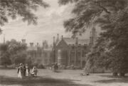 Sidney Sussex College. From The Masters Garden, Cambridge. Le Keux 1841 Print