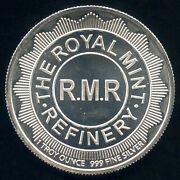 The Royal Mint Refinery 1 Troy Ounce 999 Fine Silver Round 39 Mm Diameter