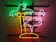 Neon Light Sign 24x20 Flamingo Coconut Beer Man Cave Beer Glass Decor Bar Lamp