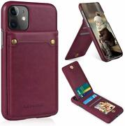 For Iphone 11 Wallet Case With 4 Card Holder, Premium Pu Leather And Flip
