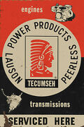 Tecumseh Engines -transmissions Service Advertising Metal Sign
