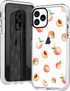 For Iphone 11 Pro Max Case,girls Women Cute Pink Peach Funny Fruits Hipster