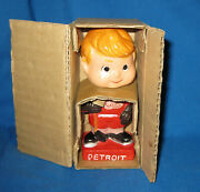 1960s Detroit Red Wings Mini Bobblehead Nodder, 4 3/4 Inches, Nos With Box
