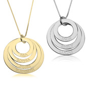 Mothers Necklace - Engraved Personalized Mothers Jewelry With Children's Names