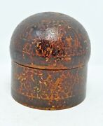 Antique Wooden Lacquer Box Original Very Fine Collector's Piece Carved Painted