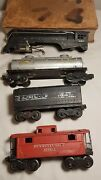 Lionel Loco 221 Shell Nyc Car 221t Sunoco Tank 2465 Caboose 2472 C1947 Hobby Set