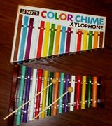 Vintage 14 Note Color Chime Xylophone And Box Japan 1950and039s - 60and039s