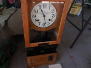 The Cincinnati Recorder Co Antique Clock 1890and039s Clock Works Weighs 52 Pounds.nr