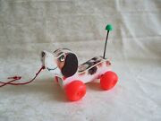 Vintage 1965 Fisher Price Little Snoopy Wooden Dog Pull Toy