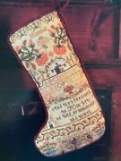 Oop Mary Beale Sampler Stocking X Counted Cross Stitch Leaflet Wise Men Magi