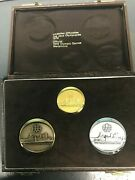 Swiss 1976 Official Montreal Olympic Medal 3 Piece Set Gold Silver Bronze Medals