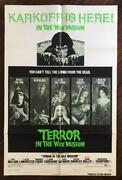 Terror In The Wax Museum 1973 Horror Mystery Cult Original Movie Poster Style B