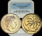 2006 Australia 2 Cent Pcgs Ms66rd High Grade A Must Have For Collectors