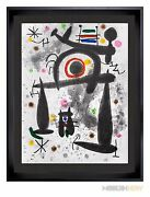Joan Miro Color Lithograph Limited Edition 1971 17x21in. ++custom Framing