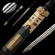 Autumn Waters Sword Hand Forged Pattern Steel Pure Copper Carved Fittings 5060