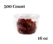 16oz Plastic Deli Food Storage Containers With Lids 500 Count