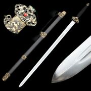 Hand Forged High Quality Pattern Steel Lion Sword Pure Copper Fittings 5035