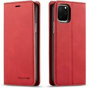 Compatible With Iphone 11 Pro Wallet Case Cover, Magnetic Stand View Premium Id