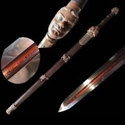 Chinese Combat Ready Pattern Steel Sharp Qinyong Sword Pure Copper Fittings5038