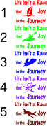 Life Isnand039t A Race Find Joy In The Journey Window Wall Decal Assorted Logo Styles