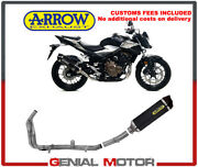 Exhaust System Arrow Racing Carbon Black Tail Pipe Carbon Honda Cb 500 F 2019