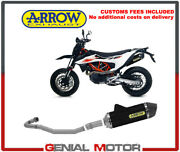Exhaust System Arrow Not App Alu Blac Link Tail Carb For Ktm 690smcr 2019