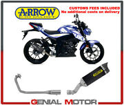 Exhaust System Arrow Coll Racing Carb Thund Tail Pipe Carb Suzuki Gsx-s 125 2019