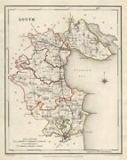 County Louth Antique Map For Lewis By Creighton And Dower. Ireland 1846 Old