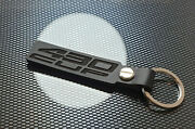 Lotus Exige 430 Cup Black Leather Keyring Keychain S3