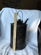Rare Double Stamped 1929 Antique 1900s A.t. S.f. Railroad Oil Can-1 Of A Kind