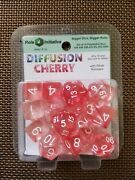 Role4initiative Set Of 15 Polyhedral Dice Diffusion Cherry With White Numbers
