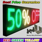 Wifi Tri-color Programmable Led Sign 25 X 63 Shop Store Scroll Text Display