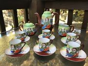 Lucky China Eggshell Porcelain Coffee/tea Set Made In Occupied Japan.