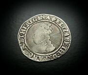 Rare Variant Elizabeth 1st Wire Line Silver Shilling First Issue Ca 1558 - 1603