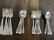 Vintage 1930andrsquos Reed And Barton Sterling Silver Wheat Silverware 32 Pieces