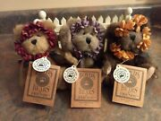 Boyds Bears Complete 3 Piece Set Hope, Joy, And Love Plus Picket Fence