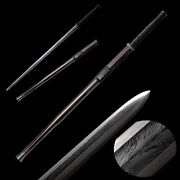 Hand Forged Feather Pattern Steel Eight Sides Han Sword Sharp Iron Fittings0012