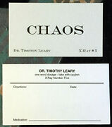 Dr Timothy Leary Chaos Card X-ray Book Company Letterpress Counterculture Nice