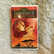 The Lion King 2 Simba's Pride Vhs Clam Shell