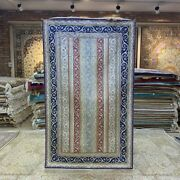 Yilong 3and039x5and039 Striped Handcraft Carpet Drawing Room Hand Knotted Silk Rug 244b